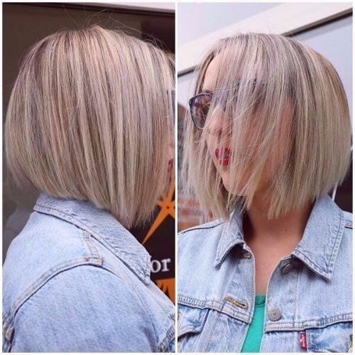 ash blonde hair with highlights bob haircut