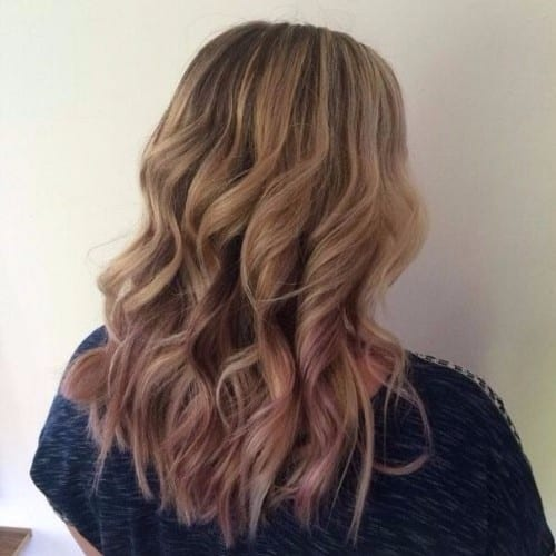 purple ends on ash blonde hair