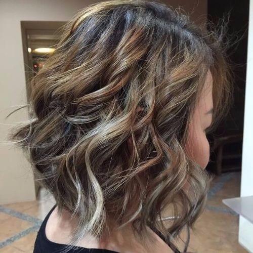 bob haircut ash blonde highlights