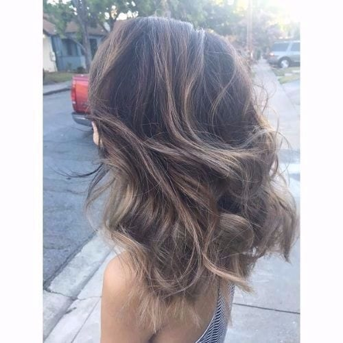 Light ash brown ombre