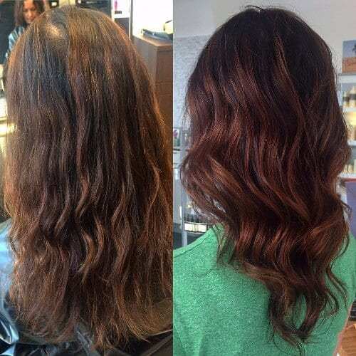 Auburn Hair with Highlights Auburn Hair with Highlights