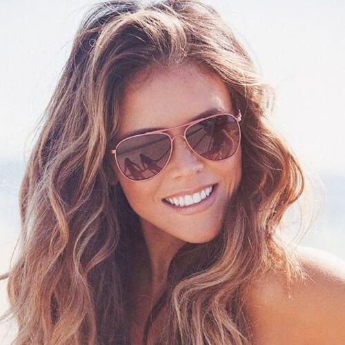 Beach Brown Hair Color