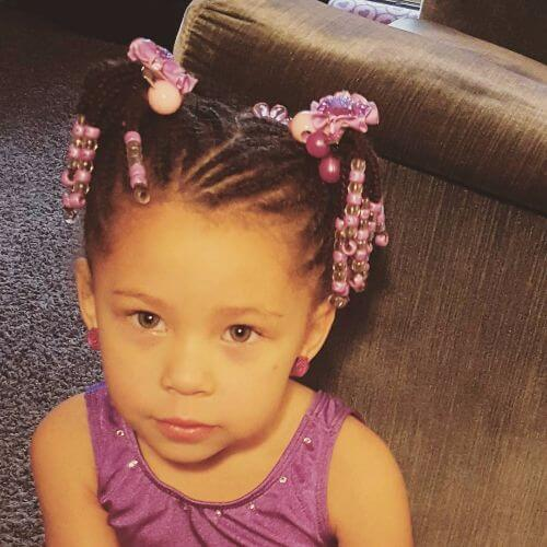 Beads and Braids Little Girl Hairstyles