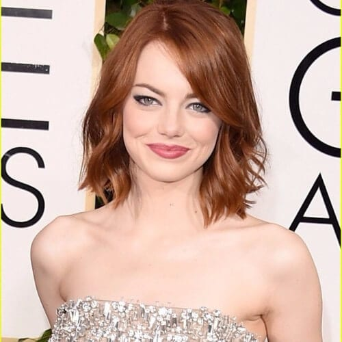 emma stone red brown hair