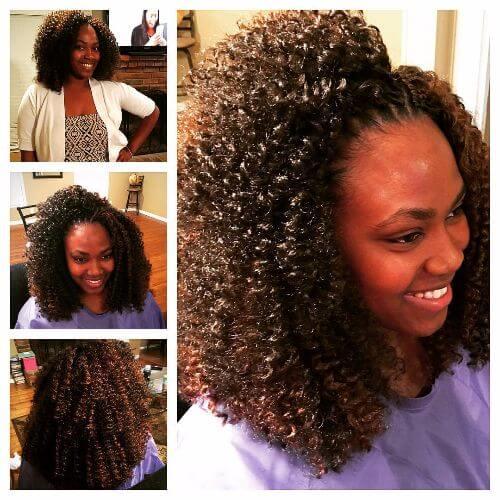 17. Short Crochet Twist Braids Hairstyle