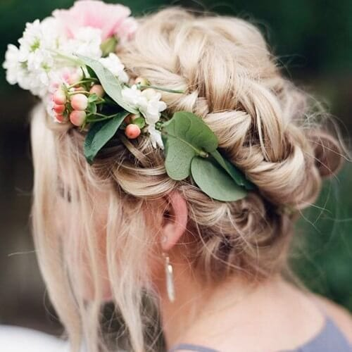 dirty blonde hair braided crown