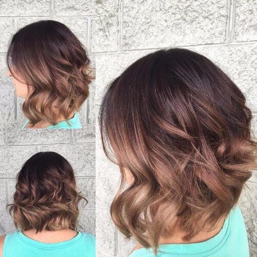 brown hair colors bob haircut