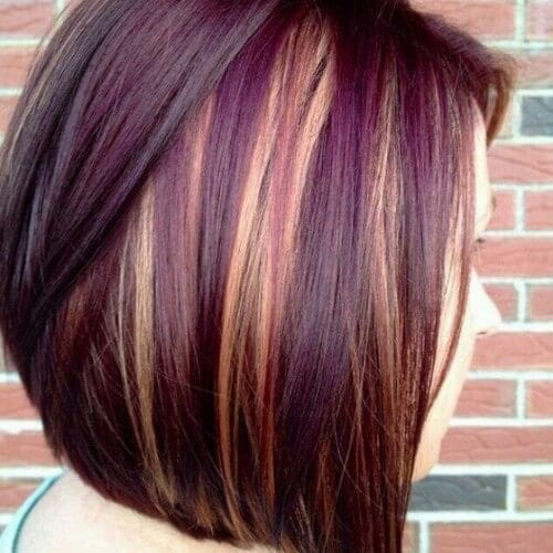 Burgundy Hair Color Highlights For 2014 Haircuts Amp Hairstyles For ...