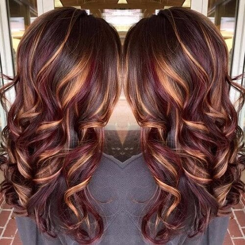 Burgundy And Blonde Hair 73