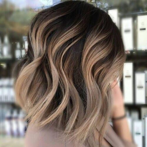 Cappuccino Brown Balayage Hair Color