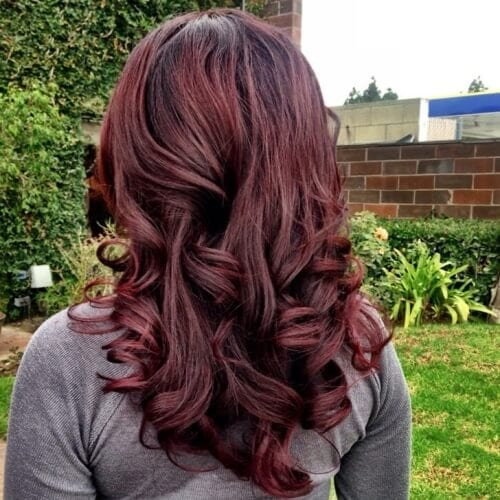 Chocolate Cherry Brown Hair Color
