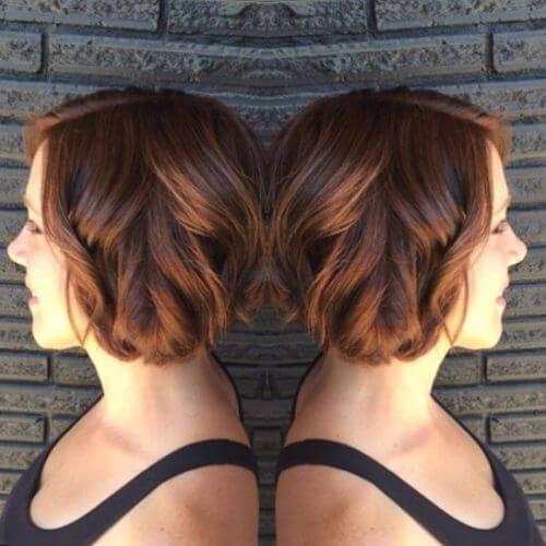 bob haircut brown hair