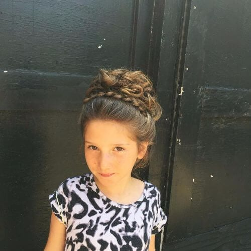 braided updo for little girls