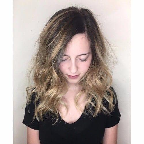 dark blonde hair