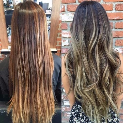 ash blonde highlights dark brown hair