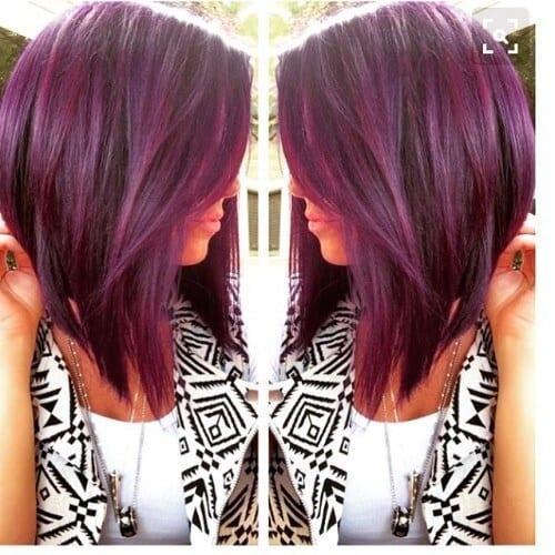 dark burgundy hair color