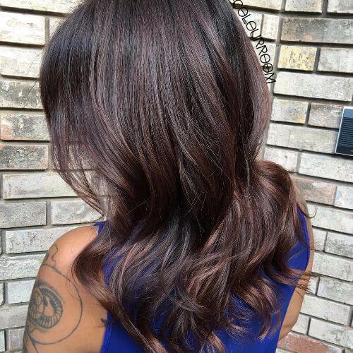 dark chocolate brown hair