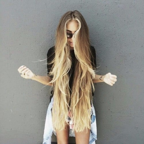 long dirty blonde hair