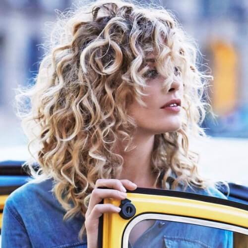curly dirty blonde hair