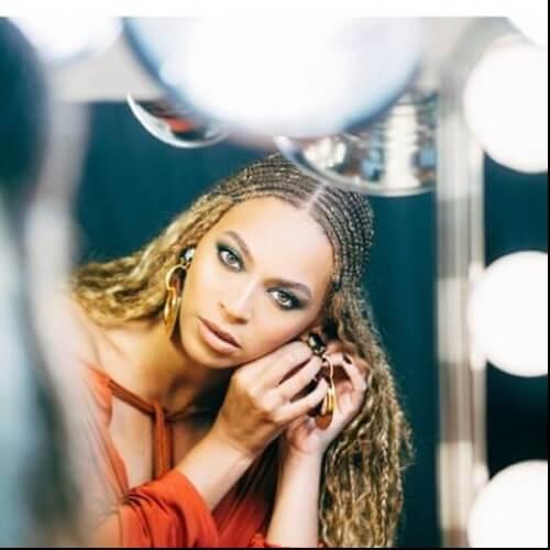 Beyonce braided dirty blonde hair