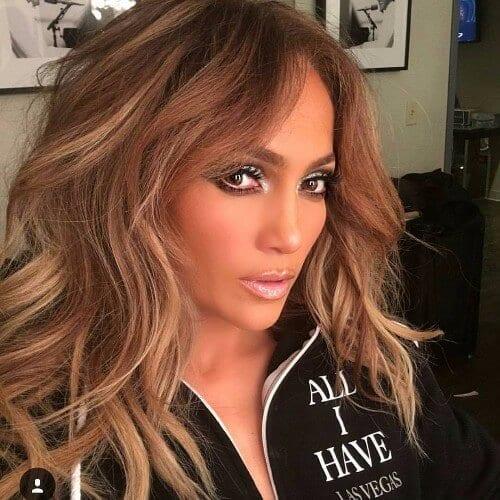 Jennifer Lopez dark dirty blonde hair