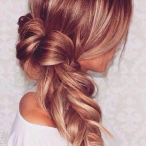braided strawberry blonde hair