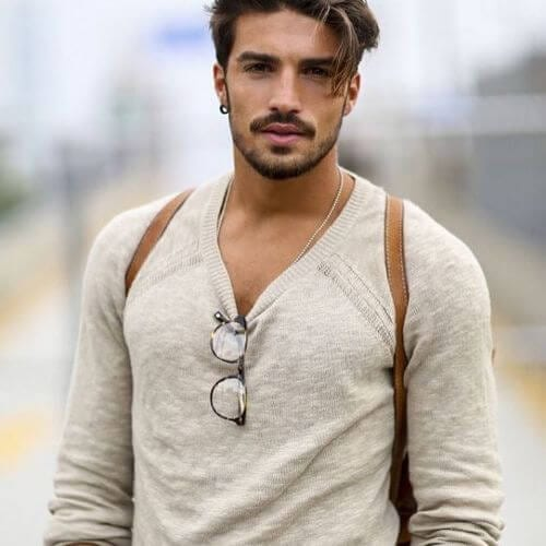 messy faux hawk hairstyle for men