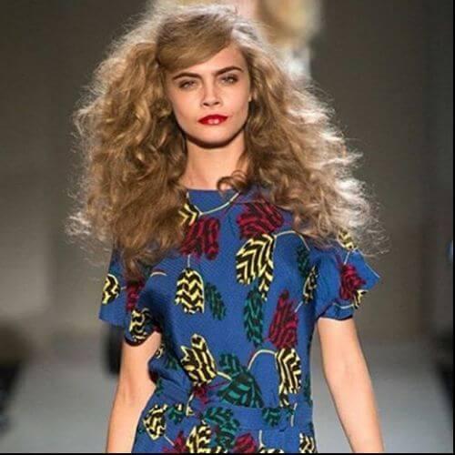 golden brown hair Cara deLevigne