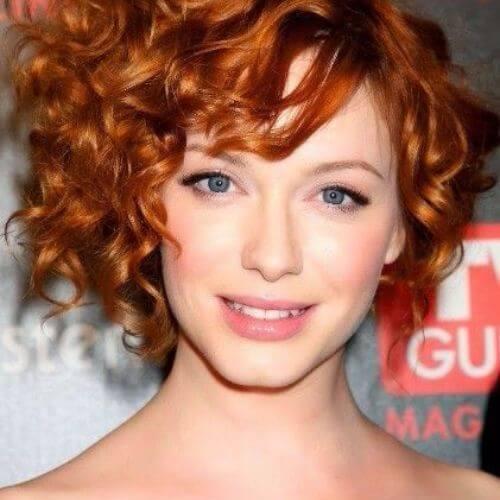 christina hendricks red curly hair