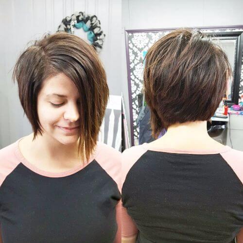 asymmetrical bob for thin hair
