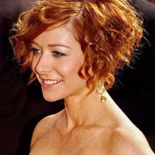 Alyson Hannigan short curly hair