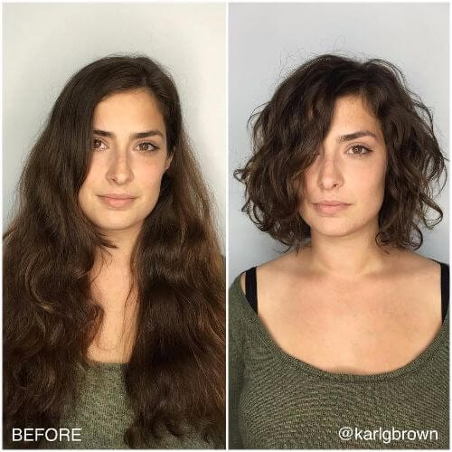 curly thin hairstyle