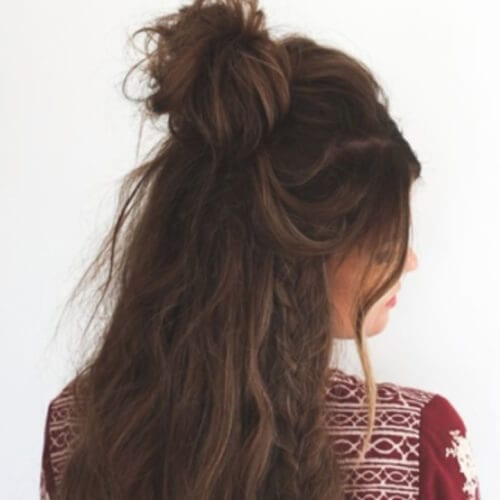 Hippie Hairstyle for Earth Brown Hair