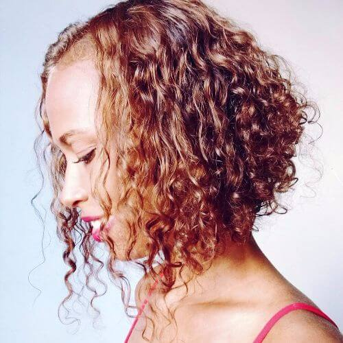 curly layers for short hair