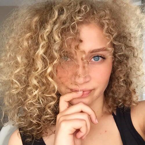 thin blonde curly hair