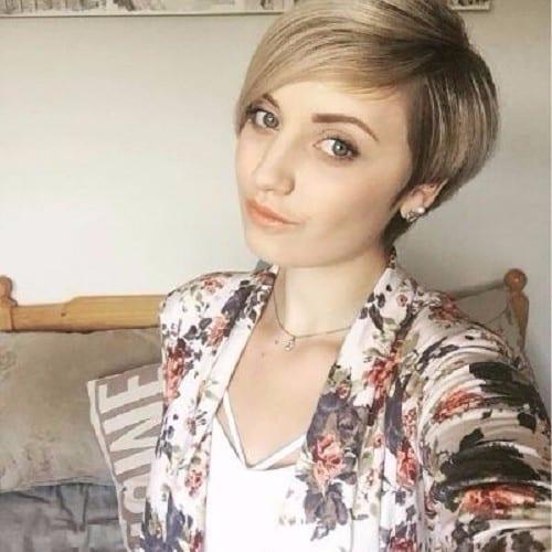 pixie cut ash blonde