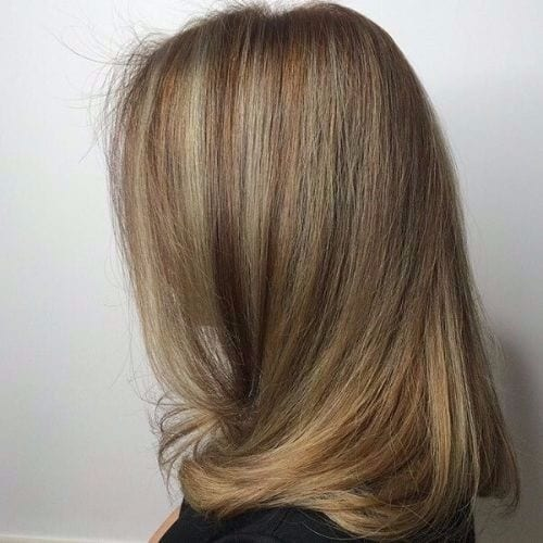 ash blonde highlights long hair