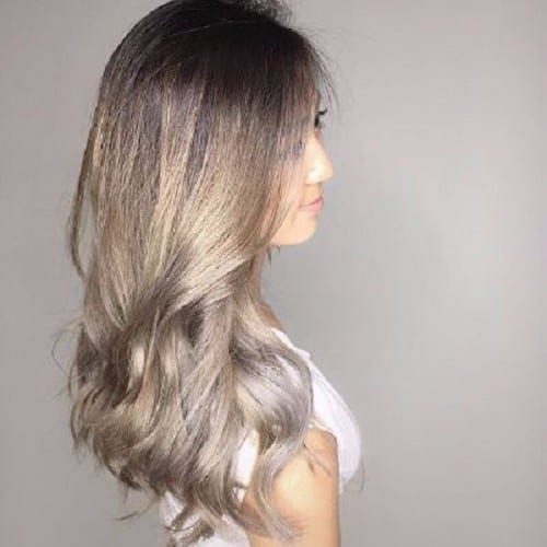 light ash blonde ombre