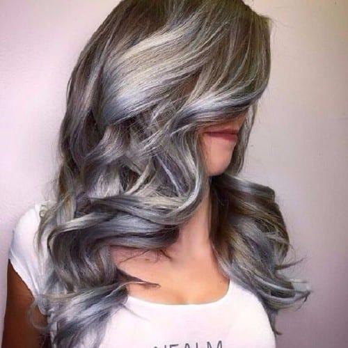 Platinum blonde and brown hair colors