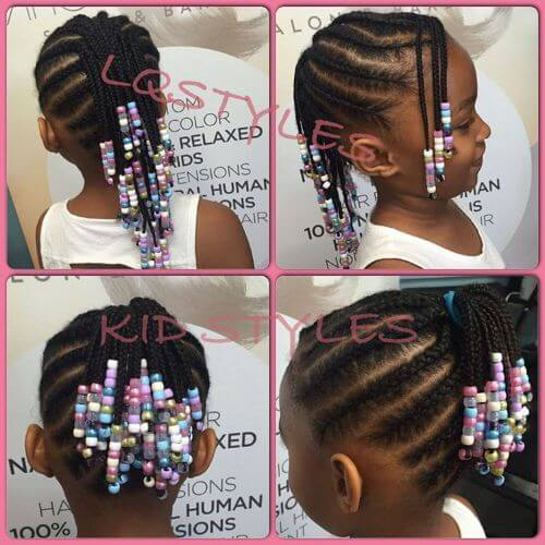 beaded little girls hairstyles