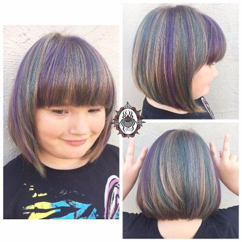 rainbow hair short hair