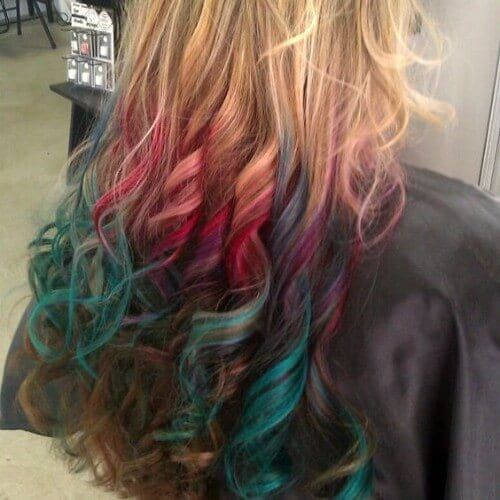 rainbow ends dirty blonde hair