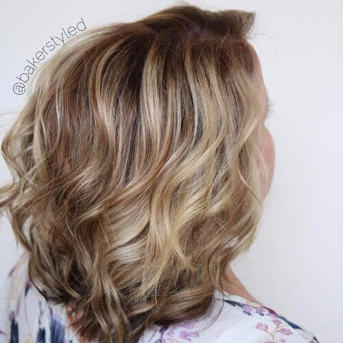 dirty blonde balayage mahogany hair