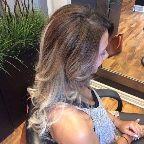 Medium Ash Blonde on Brown Hair