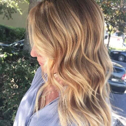 natural dirty blonde hair