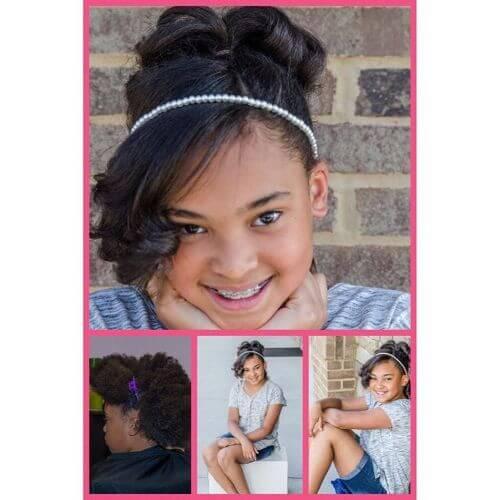 bun and bangs little girls hairstyles
