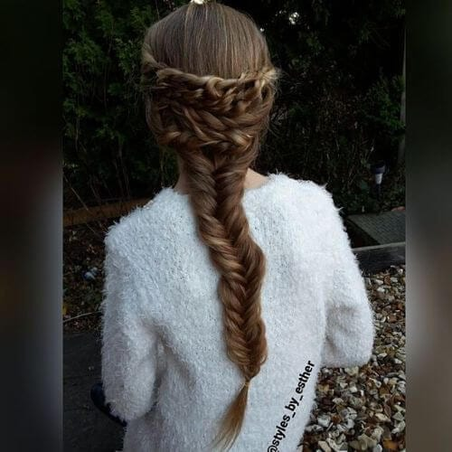 braided natural hairstyles for little girls