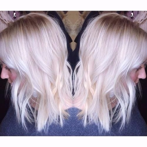 platinum ash blonde hair
