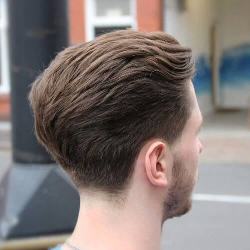 formal faux hawk cut for men