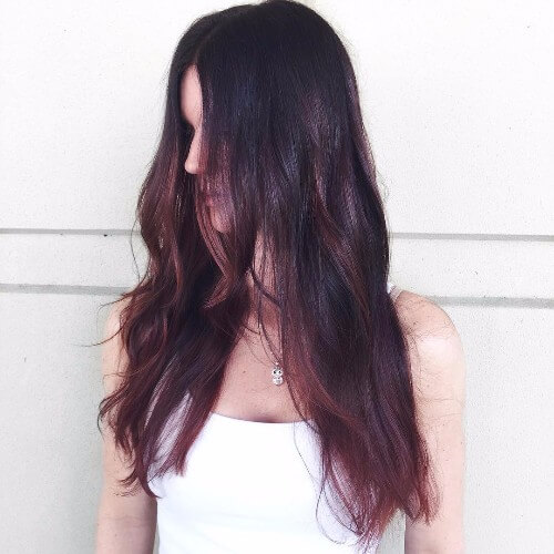 red highlights brown hair